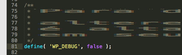 wordpress debug false