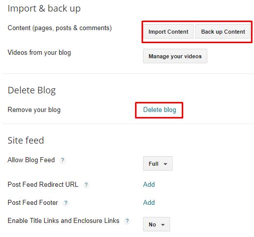 How Do I Delete a Blogger Blogspot blog?