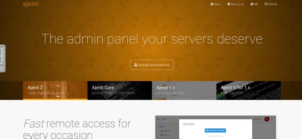 best control panel for vps - control panel vps ajenti