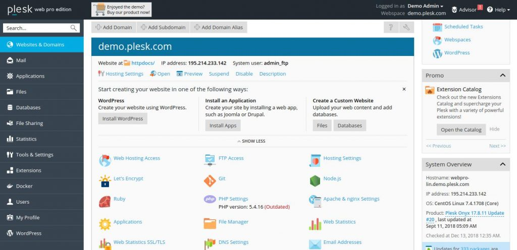 best control panel for vps - control panel vps plesk