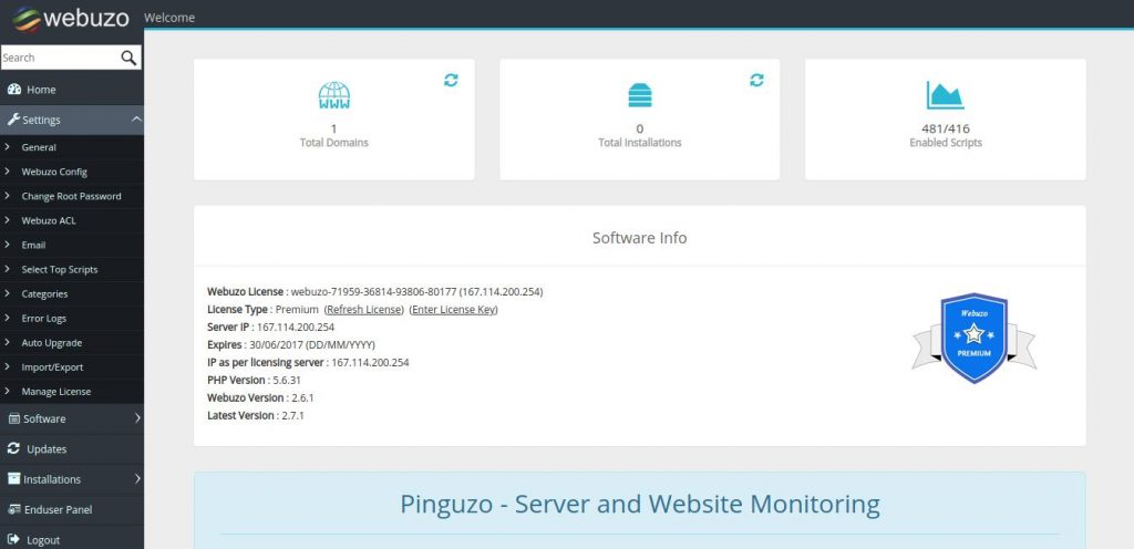 best control panel for vps - VPS control panel webuzo