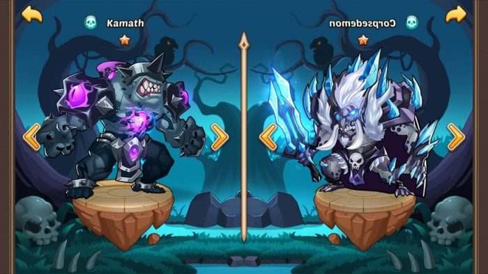 idle heroes chat table