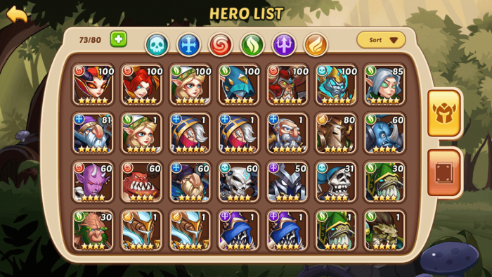 playing Idle Heroes - Do not use items if not really necessary