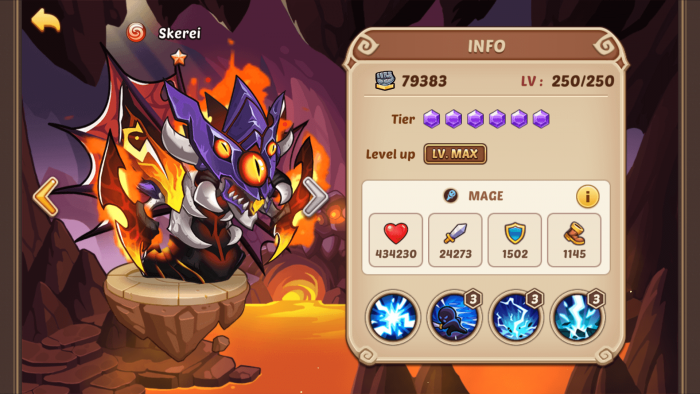 playing Idle Heroes info