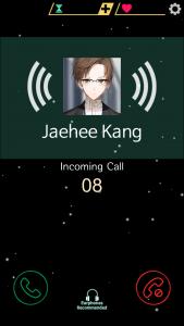 mystic messenger incoming call