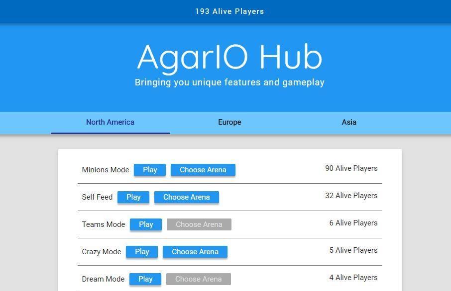 Private Agario server Agariohub.net