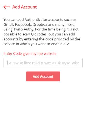 Google authenticator authentication code