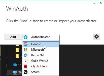 Google Authenticator Winauth Category