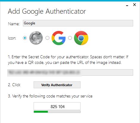 Google Authenticator Winauth Enter